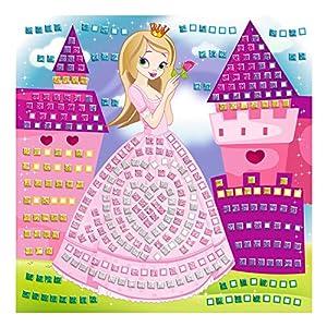 Ursus 8420001-Musgo Goma Mosaico de Princesa con Glitter, 434Piezas, Multicolor