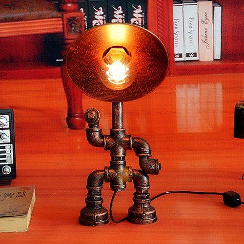 Pumpink Wasser-Rohr-Roboter-Industrie-Tabellen-Lampen-Tabellen-heller Loft Retro tun altes kreatives personality Hut-Schreibtisch-Lampen-Schreibtisch-Licht-Restaurant-Stab-Eisen-Studie-Dekoration Intervenieren Sie - Industrie-schreibtisch-lampe