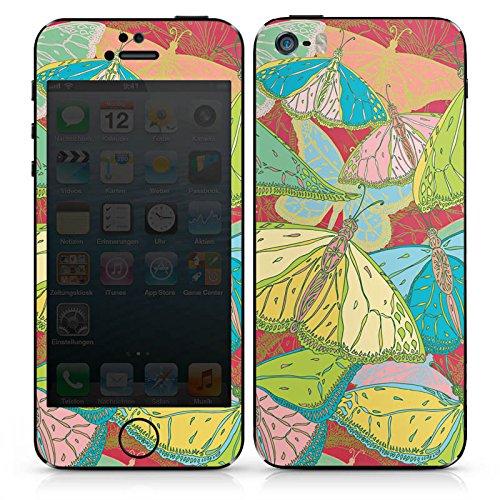 Apple iPhone SE Case Skin Sticker aus Vinyl-Folie Aufkleber Schmetterling Frühling Muster DesignSkins® glänzend