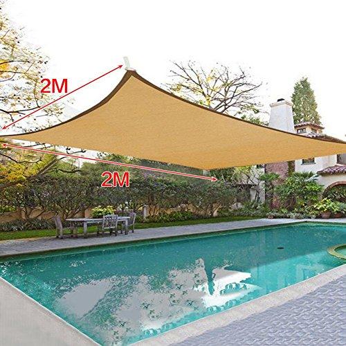 Sonnensegel Sonnenschutz Segel UV Schutz Garden Shade Net für Balkon Terrasse Garten 6-pin 2x2m -