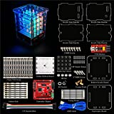 KEYESTUDIO Kit/Set für Arduino LED Cube Kit 4 x 4 x 4 Größe RGB DIY Kit mit Controller Board, Jumper Wire für Stater Kit Kompatibel tmega328
