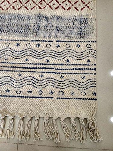 Handicraftofpinkcity home decor scalino hand block print floor dari stampato a mano divano dari tappeto fatto a mano