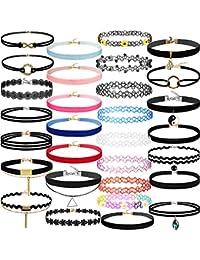 94d42e5ee11c7 Amazon.co.uk: Fabric - Chokers / Necklaces & Pendants: Jewellery