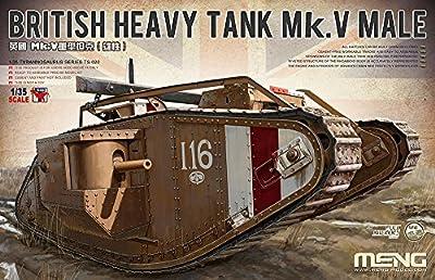 Meng TS-020 - Modellbausatz British Heavy Tank V Male von Meng