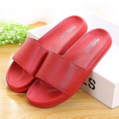 la casa bagno pantofole,39 - 40 pesco rosso 39 - 40 rosso - marrone
