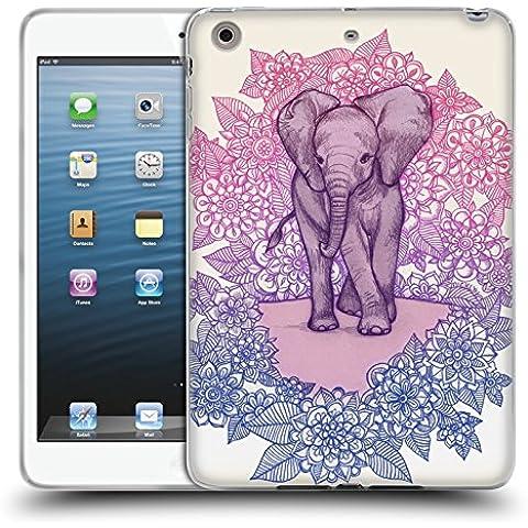 Ufficiale Micklyn Le Feuvre Piccolo Elefante Carino Animali Cover Morbida In Gel Per Apple iPad mini 1 / 2 /