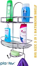 Plantex 5 In 1 Stainless Steel Big Size Multipurpose Shelf/Holder For Home