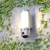 LED Flutlicht Lampe mit IP W-LAN Kamera 180° Überwachungskamera mit Aussenleuchte mit Bewegungssensor Full HD 2 Megapixel 1080p Cloud bis 30 Tage kostenlos