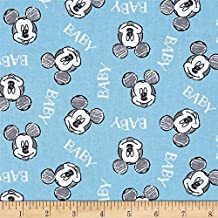 Pared con diseño de Mickey Mouse Oh Boy Disney Quilt Tela 37760–grasa quarter- por verde