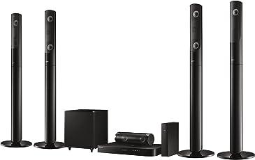 Samsung HT-J5550W 5.1 3D Blu-ray Heimkinosystem (1000W, kabellose Rücklautsprecher, WLAN, Bluetooth, FM Tuner) schwarz