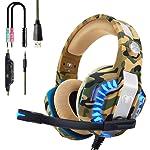 Beexcellent Casque PS4 Gaming, Casque Gamer Professionnel Audio Stéréo avec Micro à Réduction du Bruit 3.5mm Jack Over...