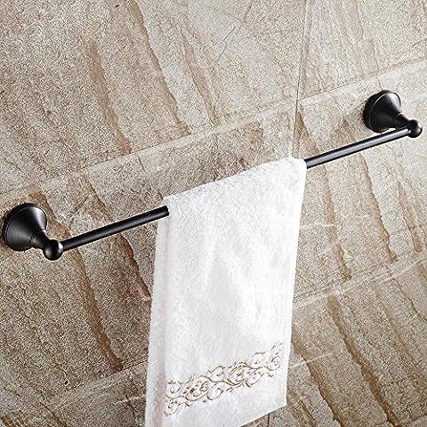 CU Toallero de baño antiguo europeo, alambre de cobre, barra de bronce toalla negro unipolar