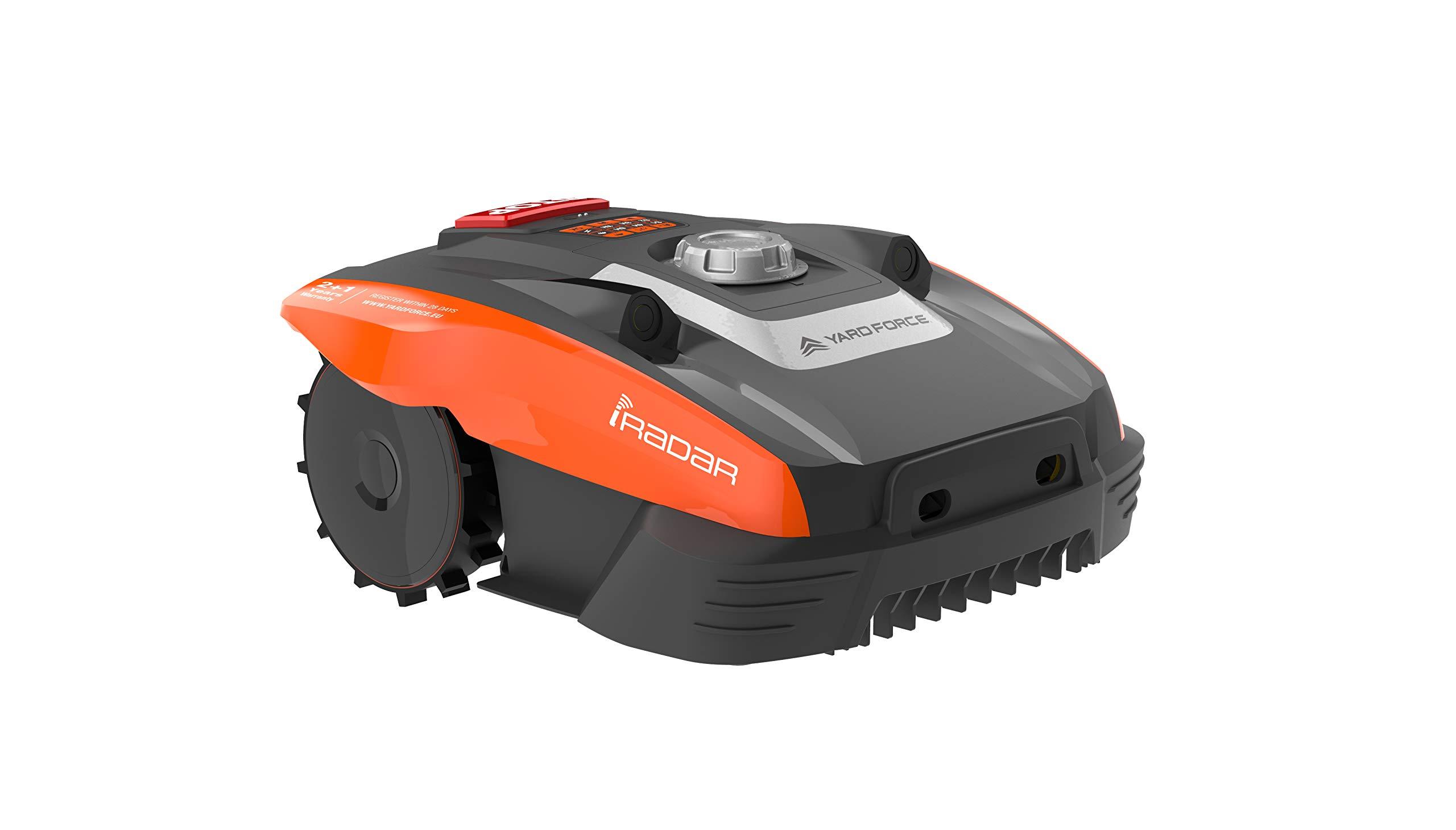 Yard Force Mähroboter Compact 280R, mit iRadar Ultraschallsensor, Rasenkanten-Funktion, Regensensor