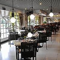 KHSKX Singolo-testa di negozio di abbigliamento di industrie creative retrò Lampadario Lampadario e pentacolo di Lampadario in sala da pranzo Cafe del vento
