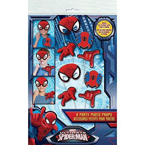 - Spiderman Photo Booth Props, 8pc ()