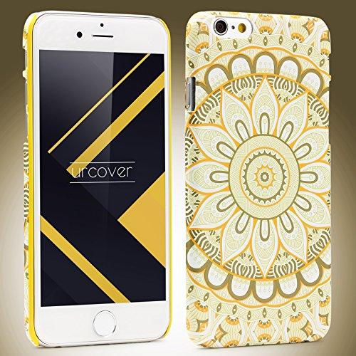 Urcover® Apple iPhone 6 / 6s Schutzhülle mit Mandal-Design in Hell Blau Colorful Mandala Backcase Cover Smartphone Zubehör TPU Schale Weiß
