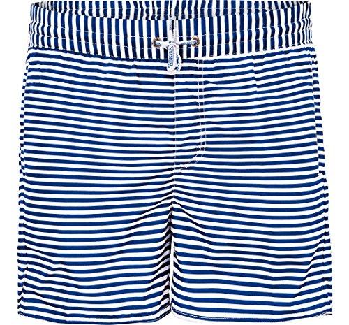 Sommer Jungen Badeshorts im Maritimen Look Sailor (Marine, 138-142)