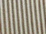 Inlett Streifen gewebt Baumwolle Möbelstoff braun–Meterware