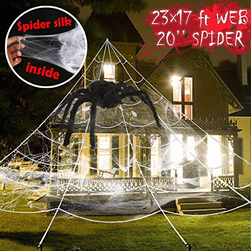 Spider Web Kürbis - WOBANG Halloween deko, Halloween-Thema Creative Halloween