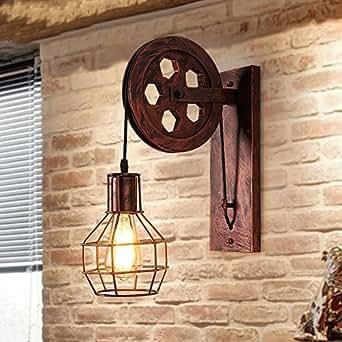 Bcyhh Wandleuchten Rustikal Industrie-Stil Wandlampe