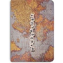 DailyObjects Wanderlust Map A5 Notebook plain (80 gsm Natural Italian Paper)