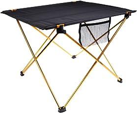 Segolike Aluminium Alloy Camping Folding Portable Table Tavel Festival Caravan Picnic BBQ Multi-Purpose Desk with Mesh Bag - Various Color