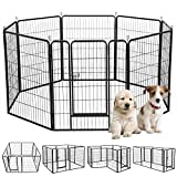 Popamazing Puppy Pet Dog Pen Cat Rabbit Foldable Playpen Indoor Outdoor Enclosure Run Cage