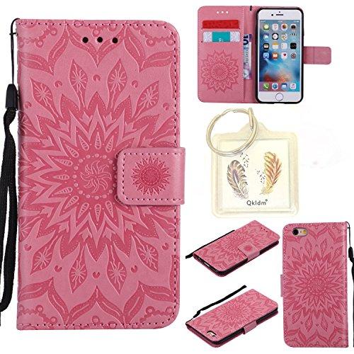 """für Iphone 6 Plus (5,5"""") Geprägte Muster Handy PU Leder Silikon Schutzhülle Handy case Book Style Portemonnaie Design für Apple Iphone 6 Plus (5,5"""") + Schlüsselanhänger(789) (1)"""