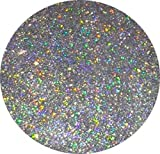 (GH1 - HOLOGRAPHIC SILVER 50g) GLITTER NAIL ART COSMETIC CRAFT FLORIST WINE GLASS GLITTER TATTOO
