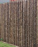 DE-COmmerce Robuster Bambus Holz Sicht Schutz Zaun ATY NIGRA I hochwertiger