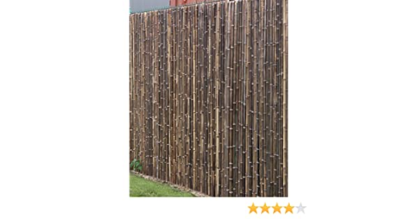 de commerce robuster bambus holz sicht schutz zaun aty nigra i hochwertiger windschutz terrasse balkon garten i bambusrohr zaun mit geschlossenen rohren