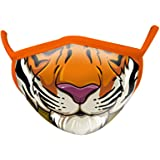 Wild Republic Mascherina per bambino Wild Smiles, perfetta da applicare sopra alla mascherina per uso medico, riutilizzabile,