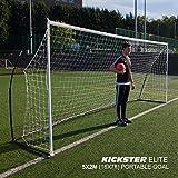 QUICKPLAY Kickster Elite Fußballtore 5 x 2M– Ultra Tragbar Innerhalb und Draussen Fußballtor | Verfügt über Eine gewichtete Basis [einzelnes Fußballtor]