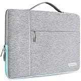 """HSEOK 15,6 Pollici Borsa portatile Custodia Protettiva Borsa da Lavoro per MacBook Pro 15 Pollici, Ventiquattrore Laptop/Caso Protettiva sottile per 15""""-15,6"""" NoteBook, Grigio"""