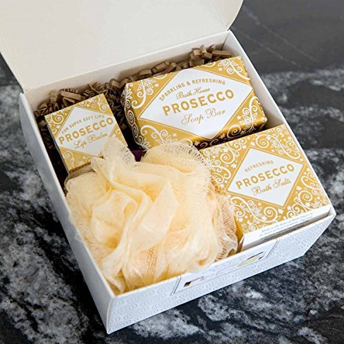 Prosecco Gift Box Set by Bath House -