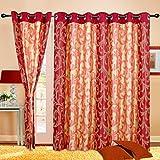 Cortina Charminar Window Curtain-45 Inch Width x 60 Inch Height (1pc)