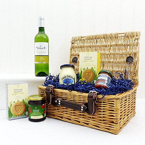 The Organic Wine Sensations Gift Food Hamper - Perfect gift idea for Mothers Day, Birthday and more
