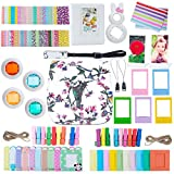 ZWOOS 12 in 1 Accessori Kit per Fujifilm Instax Mini 8/ Mini 9, Custodia per Instax Mini 8/ Mini 9(Uccello)