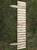 naturholz-shop Steckzaun 100 cm Zaunhöhe 20 cm aus Holz für Beeteinfassung Rasenkante