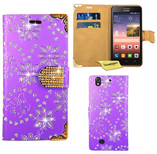 huawei-ascend-g620s-case-foneexpertr-bling-luxury-diamond-leather-wallet-book-kickstand-bag-case-cov