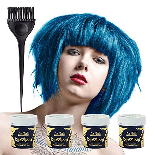 la riche directions coloration pour cheveux 4 pack bleu lagon - Coloration Cheveux 61