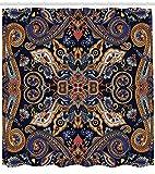 GAOFENFFR Rideau de Paisley fleurets marocains Slavic Effects héritage Conception décor des Ensemble avecscaramel Violet...