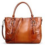 Jack&Chris Good-looking Women Ladies' Genuine Leather Tote Satchel Shoulder Handbag-S...