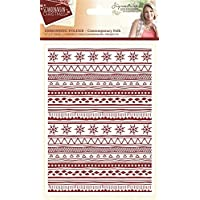 Sara Signature Collection Scandinavian Christmas Ordner – Modernes Folk, transparent