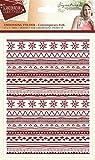 Sara Signature Collection Scandinavian Christmas cartella–contemporaneo folk, trasparente