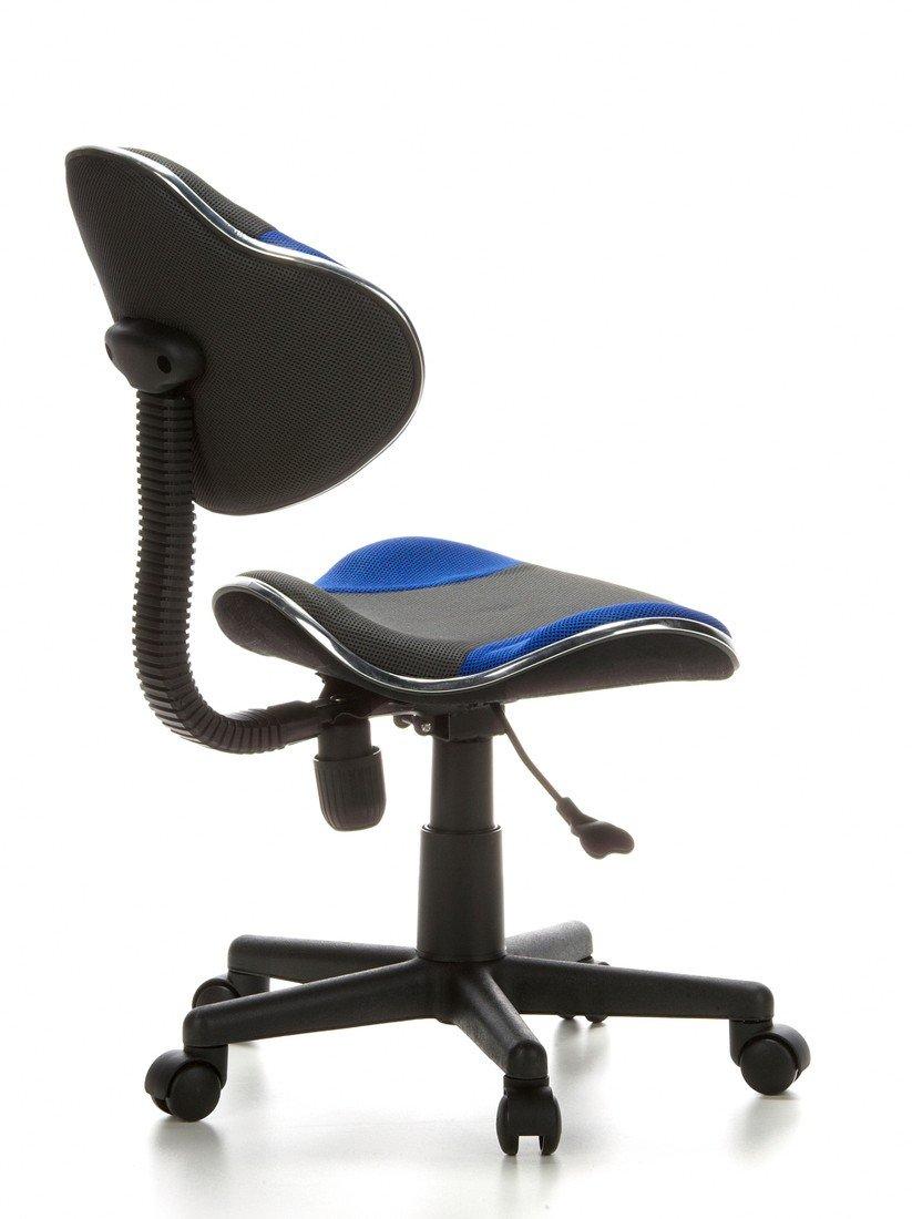 hjh OFFICE 633000 Silla Escritorio para niños KIDDY GTI-2 Tejido Negro/Azul ergonómico Silla Juvenil