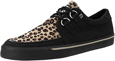 T.U.K. VLK D Ring Creeper Sneaker Blk/Leopard, Sneakers Basse Uomo