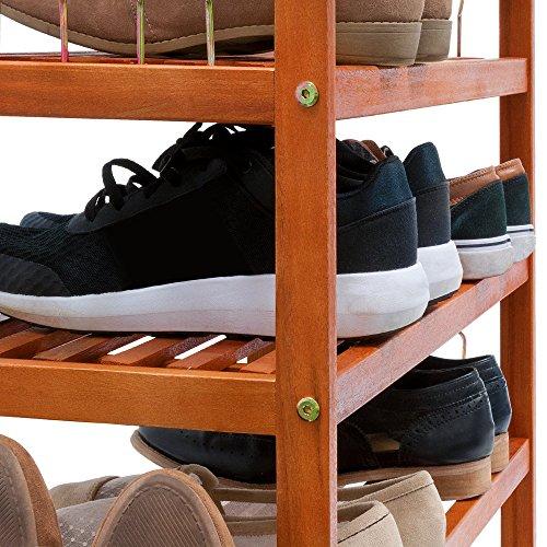 Shoe Storage Rack Wooden Tropical Acacia Storing Cabinet Furniture Unit Shoe Organiser