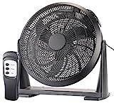 Sichler Haushaltsgeräte Wandventilator: XXL-Wand- & Boden-Raum-Ventilator, Fernbedienung, 55 Watt, Ø 40 cm (Bodenventilator)