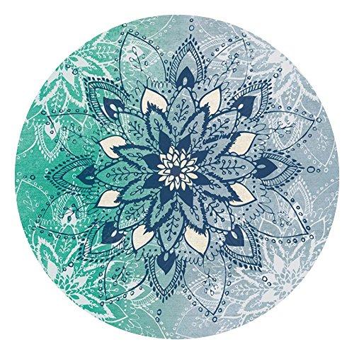 PIPIKAI Motif de Fleurs Rondes Tapisserie Plage Serviette Nappe Pique-Nique Tapis Moderne Chambre décoration de la Maison
